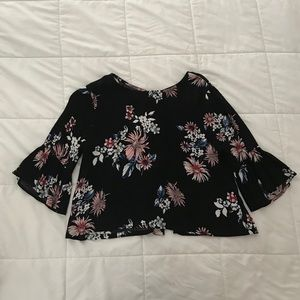 Tops - Flower Print Blouse